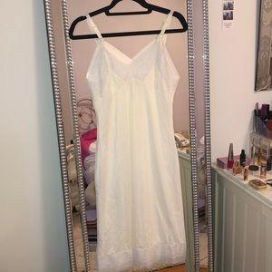 Vintage cream sheer slip dress